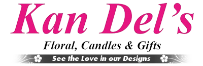 Kan Del's Floral, Candles & Gifts, Logo